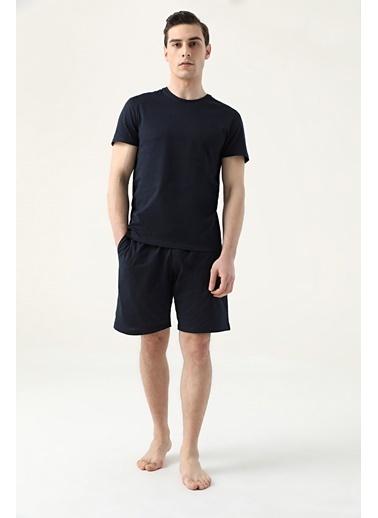 D'S Damat Regular Fit Düz Pijama Takımı Lacivert